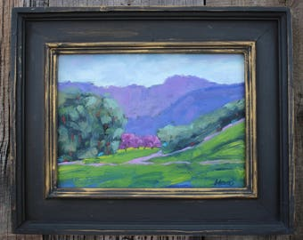 California Plein Air Landscape Oil Painting Original Art San Francisco Bay Area Briones Regional Park California Artist USA Made Artwork