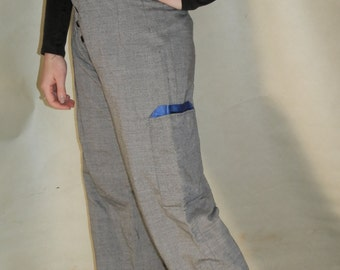 Silver Grey Loose Fitting Stylish Trousers