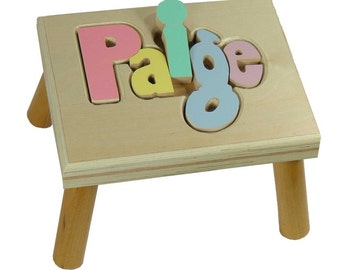 Personalized Puzzle Step Stool-FREE SHIPPING