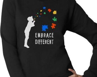 Embrace Different - Autism Awareness Women Sweatshirt