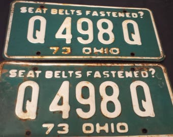 1973 ohio license plate