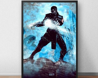Sub-Zero Poster - Mortal Kombat Art Print - Fatality - (Available in Many Sizes)