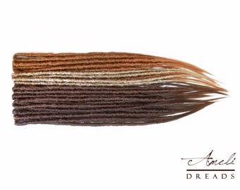 DE dreads done in wrapped natural style, synthetic dreadlocks, lose hair on the ends, FREE SHIPPING Wrldwide!