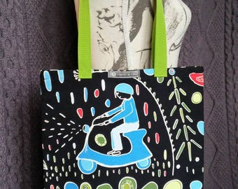 "Tote bag or Tote pattern ""vespa"""