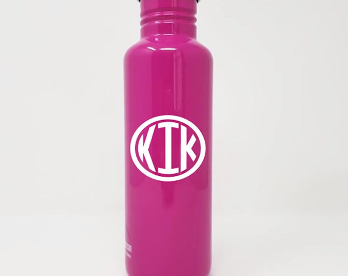 Personalized, Authentic 27oz Authentic Klean Kanteen® Stainless Steel Bottle, Sport Cap,  Name, Monogram, Reusable, Water Bottle, Metal