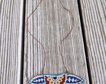 Turquoise Necklace-  Boho Jewelry- Boho Necklace- Long Necklace- Pendant Necklace- Hippie Necklace