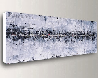 72 inch black white abstract painting acrylic painting art painting canvas digital Oil large canvas modern palette knife Art Visi