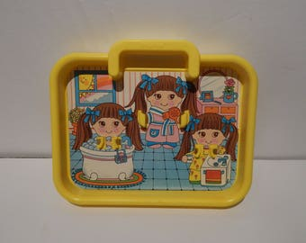 Vintage Dolly Pop Playset Birthday Time No Dolls or Accessories Playset only Knickerbocker 1970s