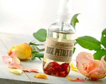 Rose Petals BODY OIL • Rosehip Organic Massage oil, Rose Organic Bath oil, All natural skin care, Aromatic Rosehip body oil, Elixirium oil