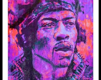 Jimi Hendrix /Guitarrist/PopArt/StreetArt/Cats/Decorative/Painting/WoodPrint/Poster/XXLCanvas/Canvas/StreetArt/Jazz/Music/Rock/Ikone/Print