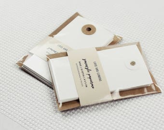 10 White Paper Tags | Gift Tags, Paper Tags For Packaging, Gift Labels, Wedding Favors