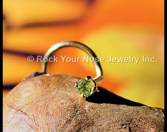 Peridot Nose Stud in Gold  - CUSTOMIZE