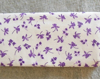 Fabric Checkbook Cover - Lavender Flowers