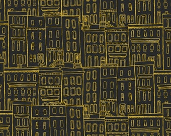 1 Yard Cut - Gramercy by Leah Duncan for Art Gallery Fabrics - Brownstone Coated