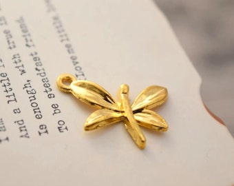 20 gold plated dragonfly charms  charm pendant pendants (YY01)