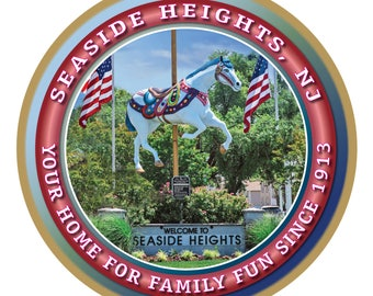 Seaside Heights Welcome Sign (Jersey Shore) Wood Plaque / Sign