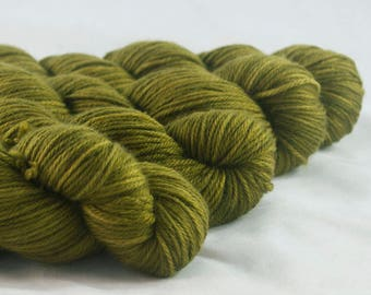 Ambush Khaki Hand Dyed Superwash Merino DK Yarn