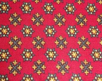 Red Motif Cotton Print Fabric, 1/2 Yd, Marcus Bros.