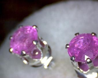 Beautiful Pink Sapphire Earrings