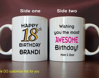 18th Birthday Gift for Boy - Girl - Gifts for 18 Year Old Birthday - 18th Birthday Mug for Him or Her - 18th Birthday Gift Ideas, MBC006