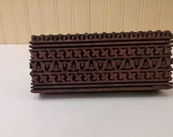 Hand Carved Woodblock Block Print Craft Supply