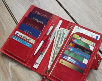 Family passport holder/Leather passport holder/4 Passports holder/family travel wallet/travel wallet/passport holder/leather travel wallet