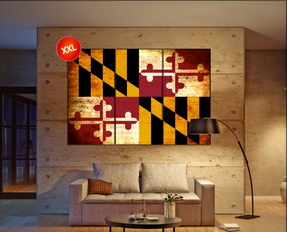 maryland state flag  canvas maryland state flag wall decoration maryland state flag canvas art maryland state flag large canvas