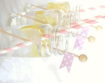 25 Wood Rock Candy Sticks--lollipops-cake pops-marshmallows--diy flags-cupcake picks-drink embellishment-etc