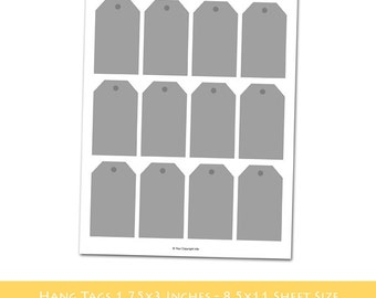 INSTANT DOWNLOAD - Make Your Own Tag Sheets with an E-Z Tag Sheet Template - Hang Tags - 8.5x11