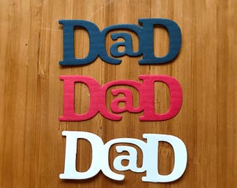 Dad Die Cuts / Set of 12 / Craft Supplies