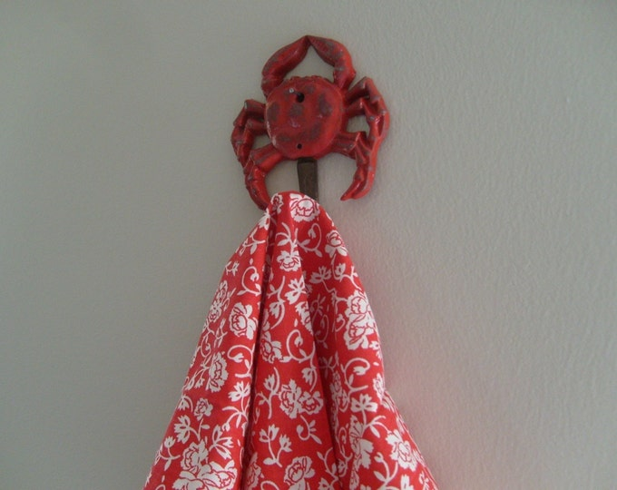 crab hook kitchen towel holder towel rack tea towels crab lovers beach home decor kitchen river cottage Outer Banks Beach House Dreams OBX