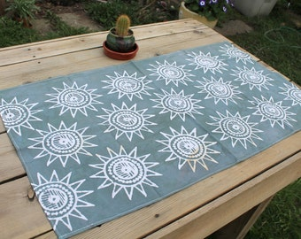 sunshine batik tea towel