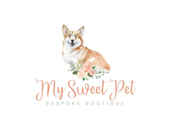 Premade Logo| Logo Design | Watercolor Logo | dog logo | Pet Logo | business logo | feminine logo | pet shop logo | branding Kit