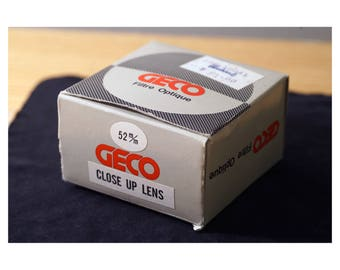 Geco Close-Up Macro Lens attachments, 52mm thread, MINT condition