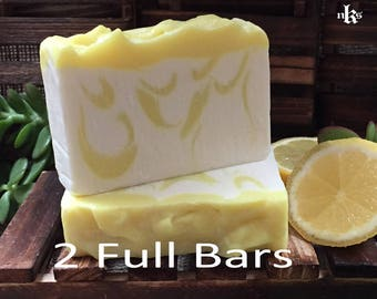 Yuzu Soap. Citrus Soap. Natural Handmade Cold Process soap. Olive Oil and Coconut Oil Soap. Artisan Soap. 2 Soaps