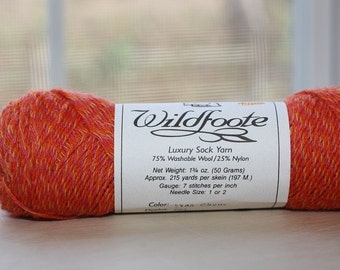 Wildfoote yarn, color SY48, lot 002   Circus