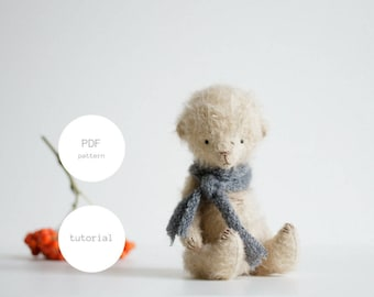 PDF Sewing Pattern & Tutorial Mohair Teddy Bear 6 Inches Stuffed Animal Pattern Artist Teddy Bear Pattern For Women Plush Pattern Soft Toys