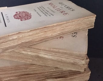 1925 Edition of Oeuvres de Moliere in 7 volumes