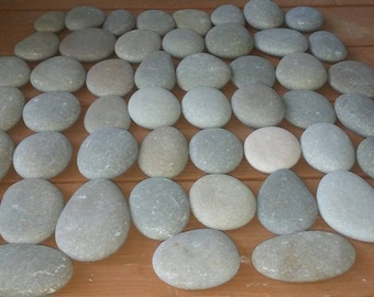 "50 Smooth Beach Stones 3"" -  3   1/2""  Painting, Wedding,Crafts, Decor"