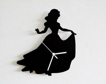 Snow White  Silhouette - Wall Clock