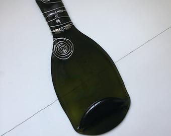 Melted wine bottle