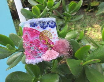 Fabric cuff style Desigual