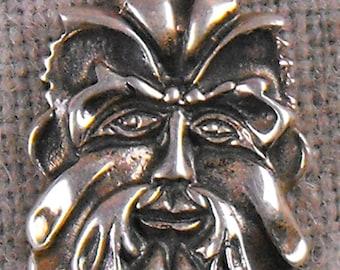 Vintage Peter Stone Celtic Green Man Sterling Silver Pendant