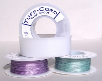 Nylon bead thread Tuff Cord in various sizes and colors SPOOL var