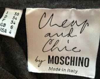 MOSCHINO Pleated skirt  - SIZE 4 - Grey