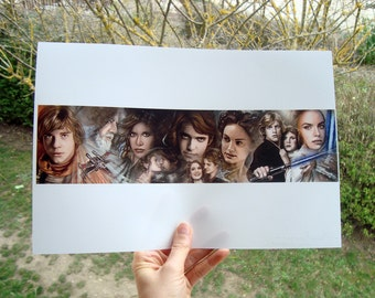 """Star Wars Traditional Art Watercolor Painting - Photo Print 20x30cm (7.9"""" x 11.8"""") - Hand Signed"""