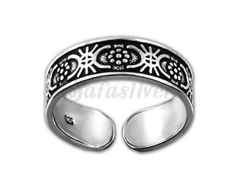 Silver Toe Ring,Oxidised Silver Toe Ring,Body Jewelry,Minimalist Toe Ring