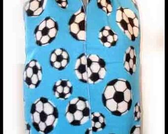 Soccer Fleece Scarf - Light Blue,Sport, Unisex, Professional Edges