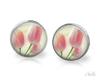 Ear studs of pastellener cherry blossom 1