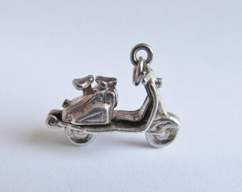 Vintage Silver Opening Scooter Charm